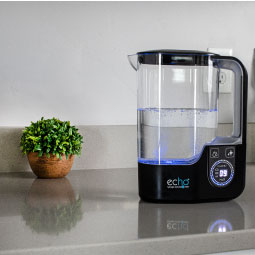 Echo H2 Pitcher / hydrogen water pitcher on counter-top