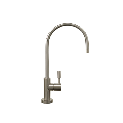 Brushed nickle faucet that connects to under the counter Echo water machines.